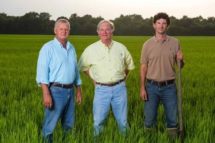 DBR farmers - David Arant Sr, Hugh Arant and David Arant Jr